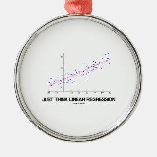 Apenas piense la regresión linear las estadística
