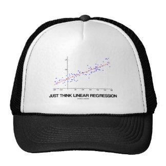 Apenas piense la regresión linear (las estadística gorras de camionero
