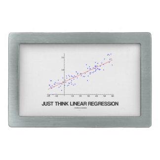 Apenas piense la regresión linear (las estadística hebilla de cinturón rectangular