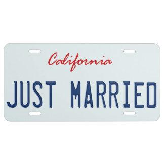 Apenas placa casada placa de matrícula