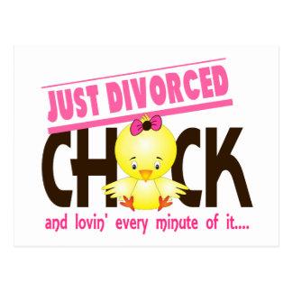 Apenas polluelo divorciado postal