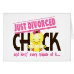 Apenas polluelo divorciado tarjeta