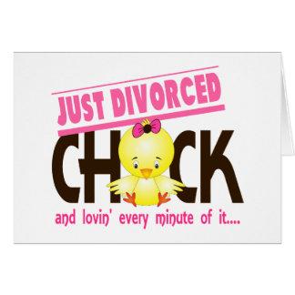 Apenas polluelo divorciado tarjeta de felicitación