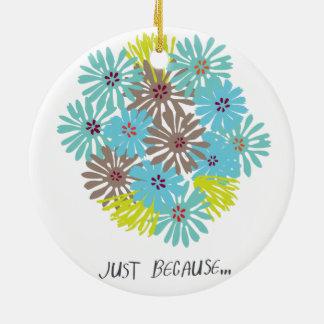 apenas porque… adorno navideño redondo de cerámica