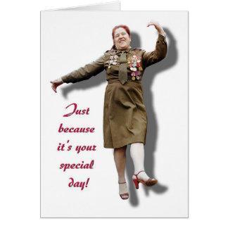 Apenas porque es su día especial tarjeta de felicitación