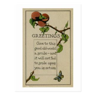 Apenas porque tarjeta de felicitación (1916) postales