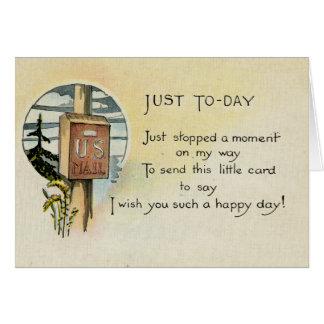 Apenas porque tarjeta de felicitación (1921)