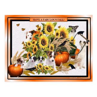 Apenas postal del saludo de la caída de Jack Russe
