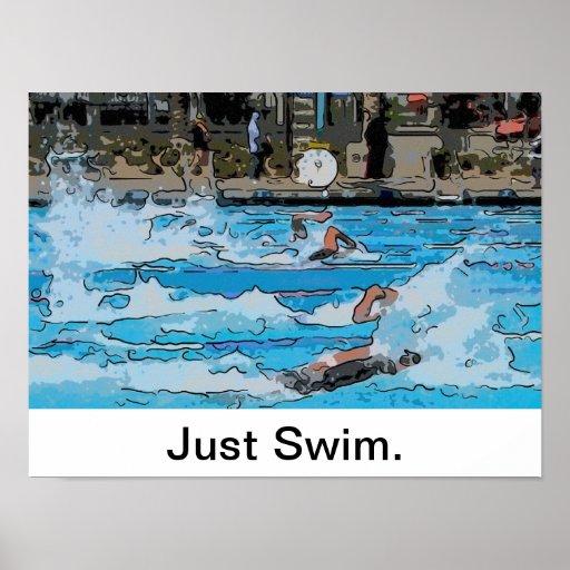 Apenas poster de la nadada póster