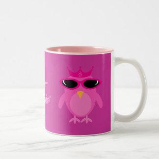 Apenas princesa rosada Owls With Sunglasses de Chi Taza
