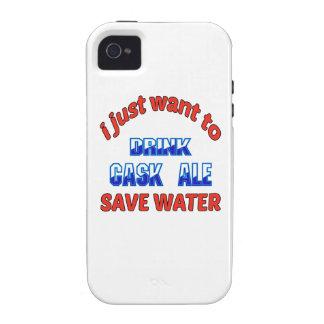 Apenas quiero beber el agua de la reserva de la iPhone 4 carcasas