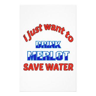 Apenas quiero beber el agua de la reserva del papeleria de diseño