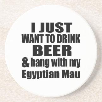 APENAS QUIERO BEBER la CERVEZA Y COLGAR CON MI Posavasos Cerveza