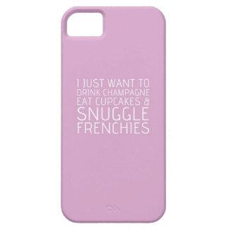 Apenas quiero - Champán y los Frenchies iPhone 5 Fundas