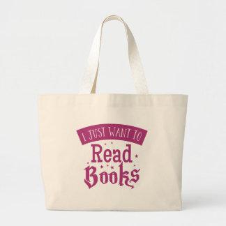 apenas quiero leer los libros bolsa de tela grande