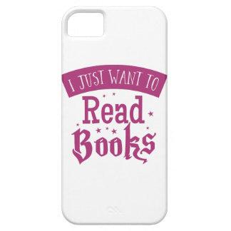 apenas quiero leer los libros funda para iPhone SE/5/5s