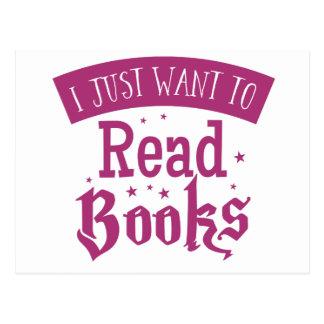 apenas quiero leer los libros postal