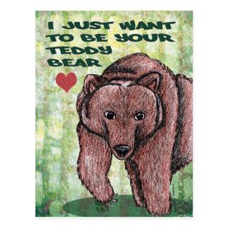 Apenas quiero ser su oso de peluche postal