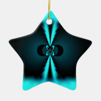 Apenas regalos de Hakuna Matata en azul Adorno Navideño De Cerámica En Forma De Estrella
