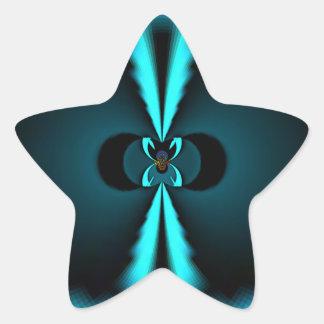 Apenas regalos de Hakuna Matata en azul Pegatina En Forma De Estrella