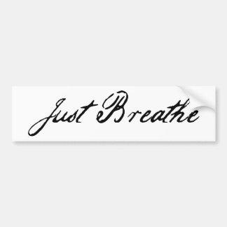 apenas respire etiqueta de parachoque