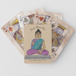 Apenas respire la cubierta de tarjetas personaliz barajas de cartas