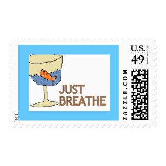 Apenas respire los sellos