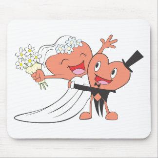 Apenas ropa casada fresca casada de la ropa el   tapetes de ratón