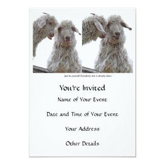 """Apenas sea usted mismo las cabras invitación 5"""" x 7"""""""