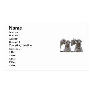 Apenas sea usted mismo las cabras tarjetas de visita