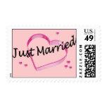 """""""Apenas"""" sellos rosados casados de los corazones"""