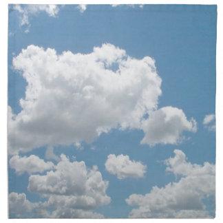 Apenas servilleta de las nubes