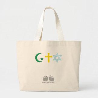 ¿Apenas símbolos? Bolsa De Tela Grande