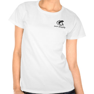 apenas simplifique la camiseta con la libélula