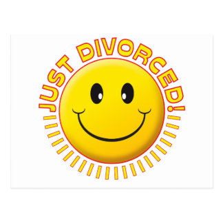 Apenas smiley divorciado tarjeta postal