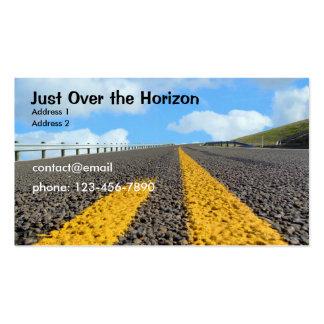 Apenas sobre el horizonte tarjetas de visita