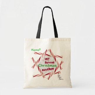 Apenas sobreviva la sátira del navidad bolsa tela barata