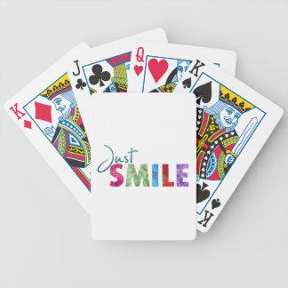 Apenas sonrisa cartas de juego