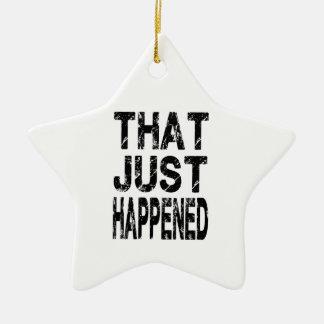 Apenas sucedido adorno navideño de cerámica en forma de estrella