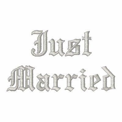 Apenas sudadera con capucha negra bordada Married