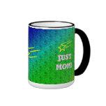 Apenas superestrella de la mamá taza de café