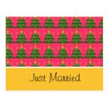 Apenas tarjeta casada del aviso de la dirección tarjeta postal