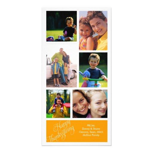 Apenas tarjeta de la foto de la acción de gracias  tarjetas fotograficas