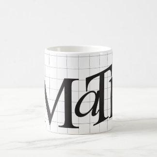 Apenas taza de café de la matemáticas