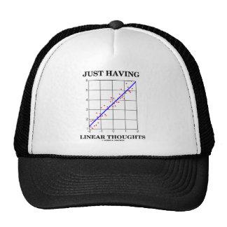 Apenas teniendo pensamientos lineares (humor del S Gorro De Camionero