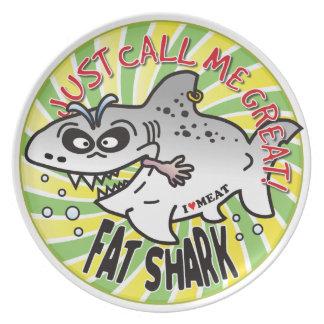 Apenas tiburón de la grasa de la llamada plato de cena