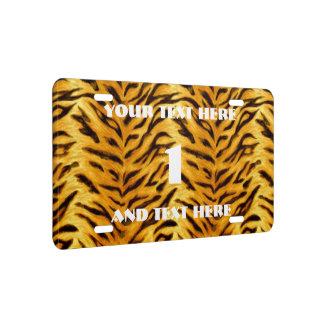 Apenas tigre placa de matrícula