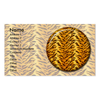 Apenas tigre plantilla de tarjeta de visita