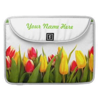 Apenas tulipanes 2 fundas para macbooks