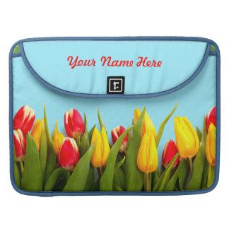 Apenas tulipanes funda para macbooks